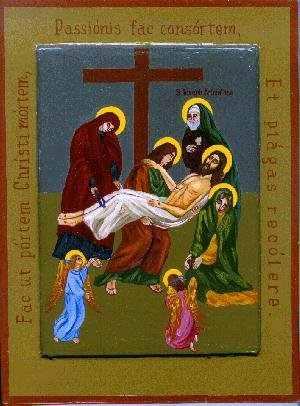 Resultado de imagen para Jesús es bajado de la cruz