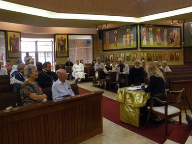 Vassula's address at the Greek Orthodox Church of Panayia Pantanassa in Johannesburg