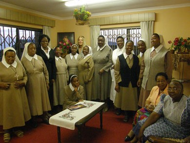 With the Nuns from the Convent of Divine Providence in Leribe