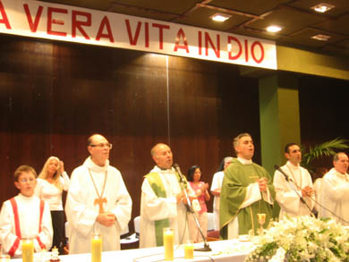 A Holy Mass that took place during the event