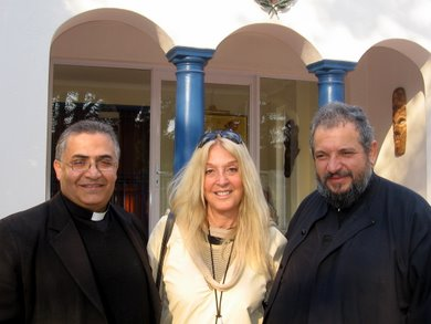 Fr.Badaoui, Vassula and Archbishop Seraphim