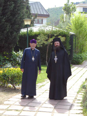 Bishop Shirvanian and Archimandrite Cretu