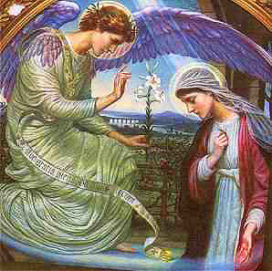 Angel and Virgin Mary