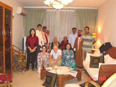 Inter-religious guests at Vassula's Welcome Dinner