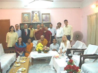 Photo with the monks and Orphanage officials
