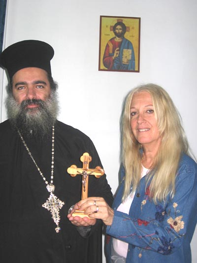 Vassula and Father Theodosius Hanna (Atallah) in Jerusalem