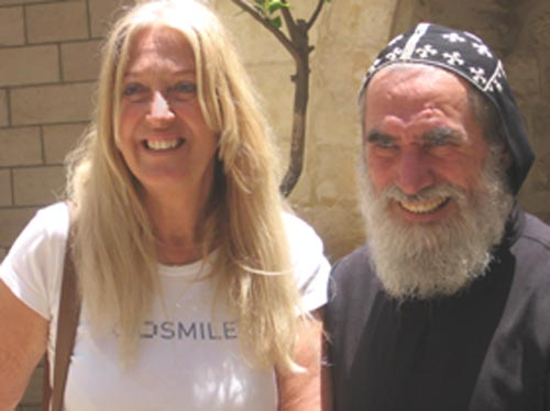 Vassula and Father Shemun Can Syrian Orthodox priest in Jerusalem