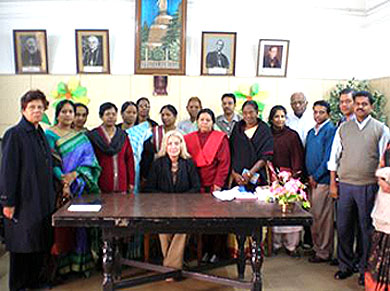With the Prayer Group members of North India