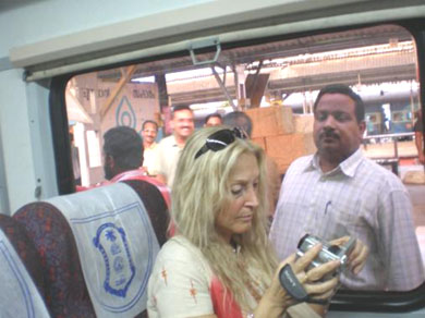 On the train to Trivandrum, totally oblivious of events to come