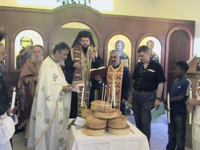 Liturgy at the monastery of St. Nektarios