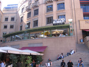 Pappas restaurant at Nelson Mandela square