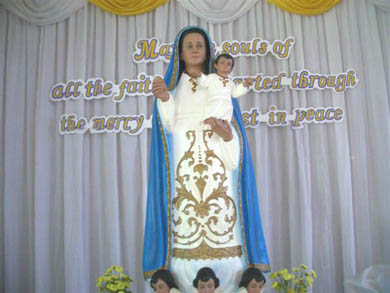 An image of Our Lady of Piat, the Patroness of Cagayan