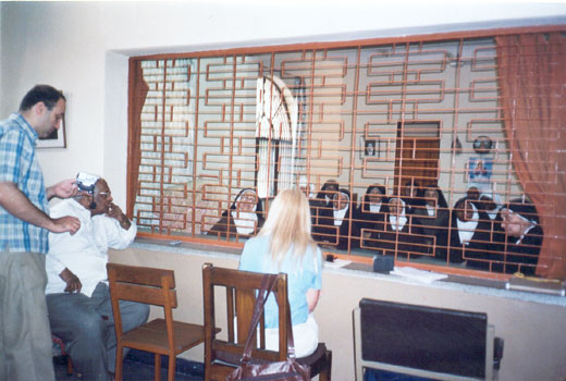 New Delhi, India. Vassula visits the Carmelite convent. July 2005